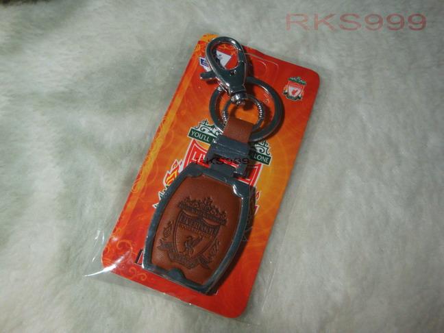 พวงกุญแจหนัง ขอบเหล็กสแตนเลส K-17