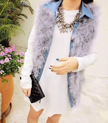 (SALE) เสื้อยาวแฟชั่น สีขาว ผ้าฝ้าย