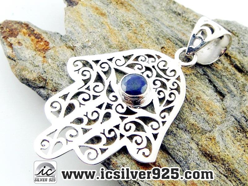 ▽ไพลิน Indian Sapphire- จี้เงินแท้ 925 (3.7g)