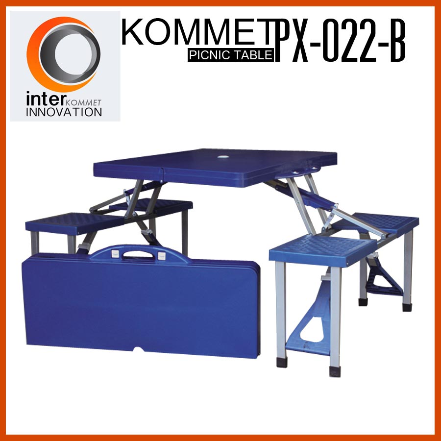 โต๊ะปิกนิกพับได้ KOMMET รุ่น PX-022-B (สีน้ำเงิน)