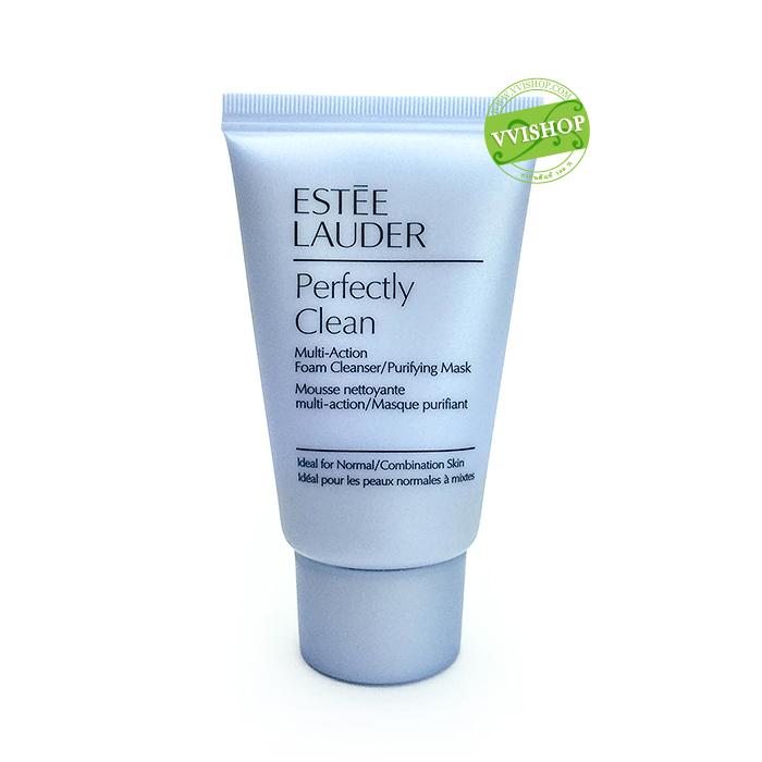 Estee Lauder Perfectly Clean Multi-Action Foam Cleanser/Purifying Mask 30 ml. คลีนเซอร์เนื้อครีมเข้มข้นนุ่มเนียนปราศจากฟอง
