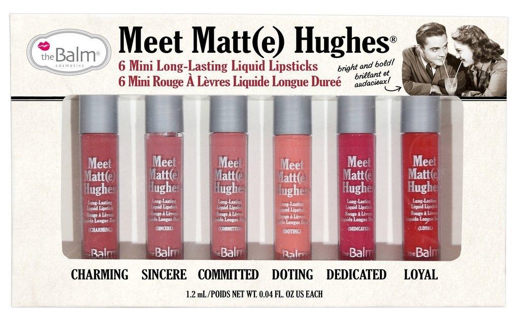 The Balm Meet Matte Hughes 6 mini Long Lasting Liquid Lipstick Limited Edition