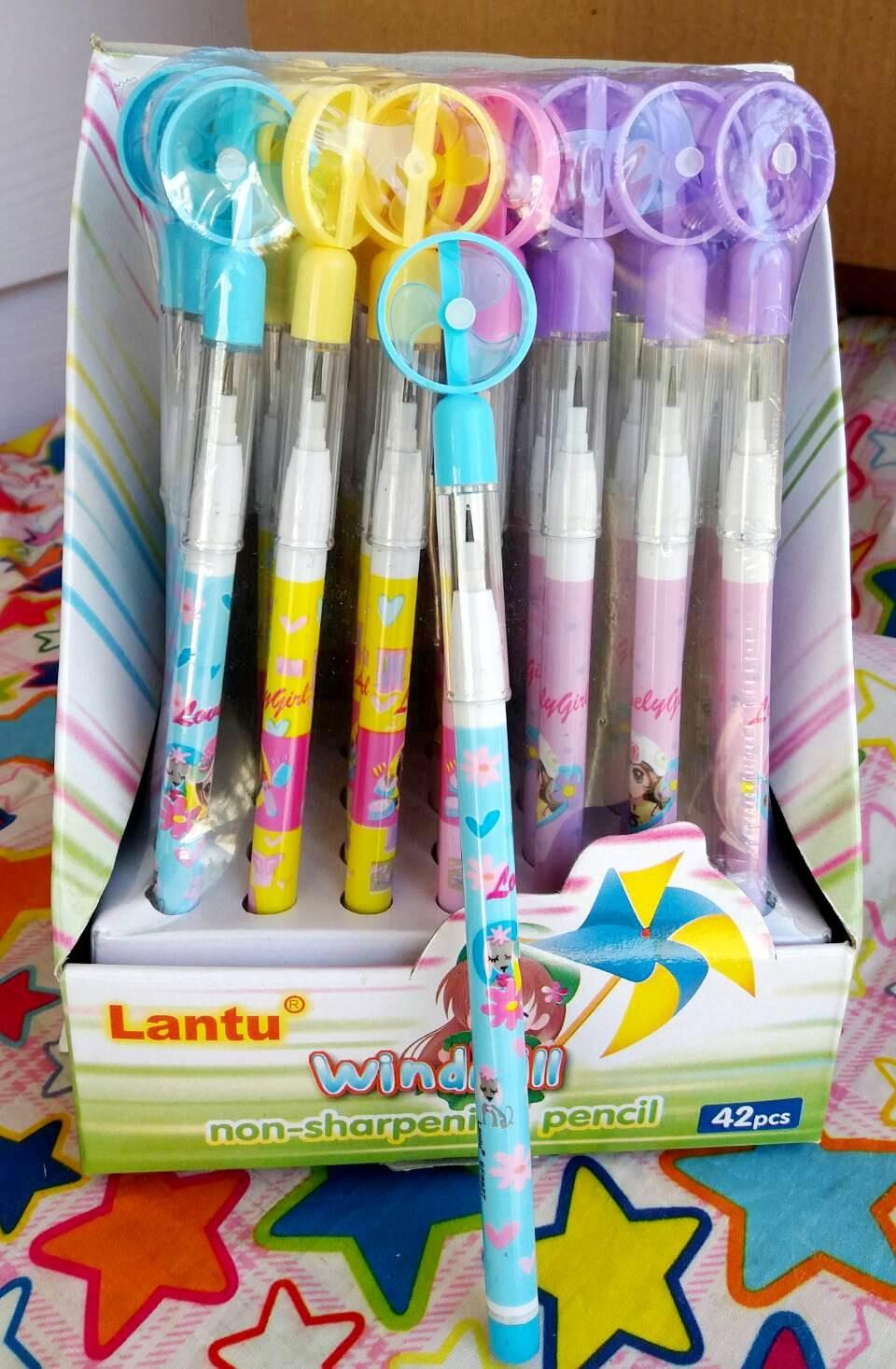 ดินสอต่อไส้พัดลม42แท่ง 110บาทต่อกล่อง
