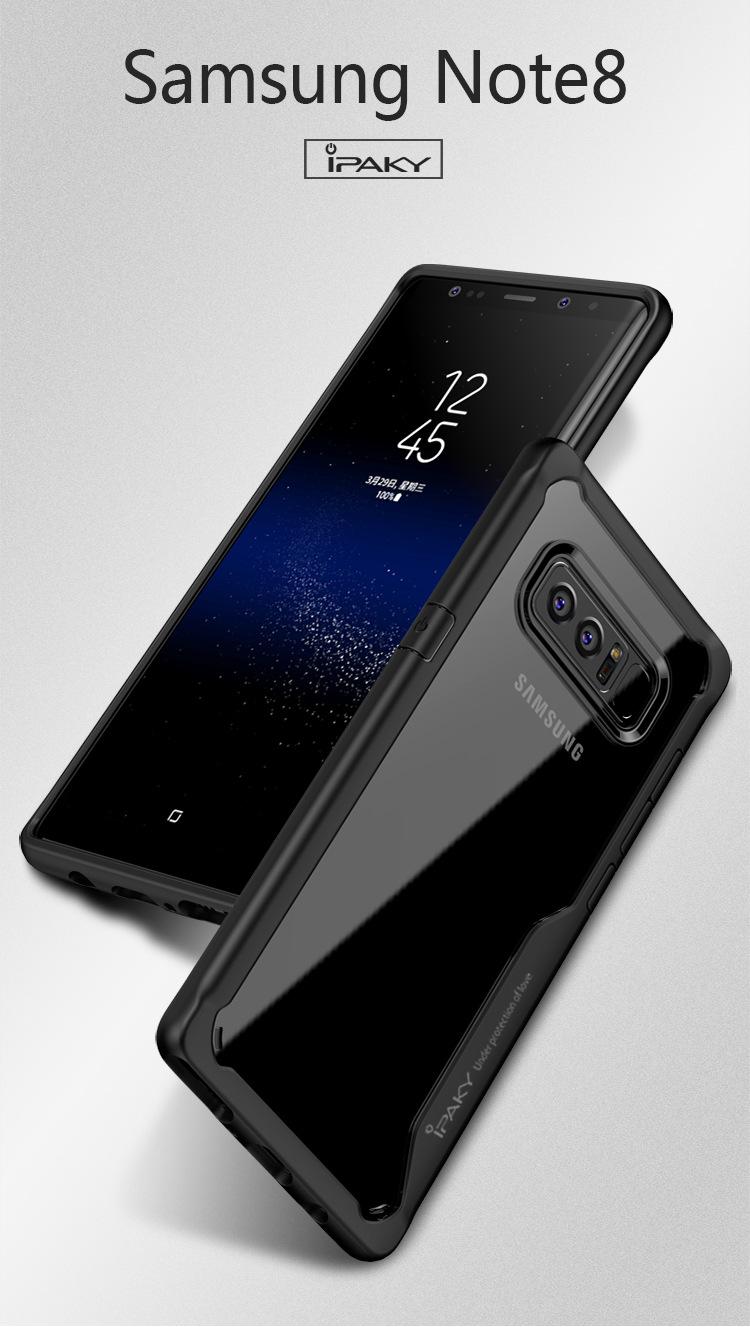 เคสกันกระแทก iPAKY LEKOO Series Silicone Frame Galaxy Note 8
