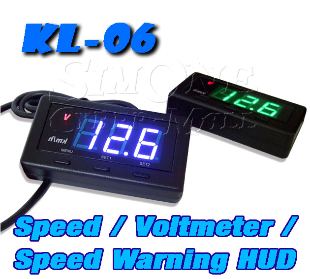 KL-06 Head-Up Display With Battery Volt-Meter & Speed Limit Alarm