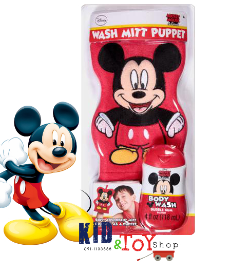 ชุดเจลอาบน้ำพร้อมผ้าถูตัว Mickey Mouse +++มีของจร้า+++