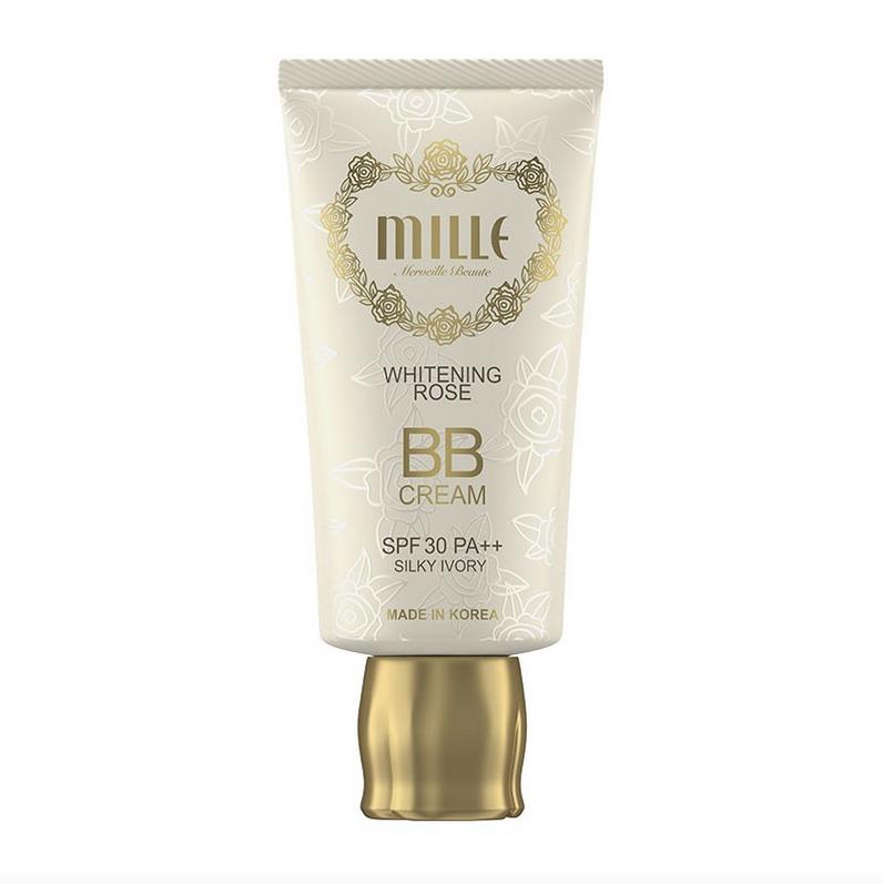 Mille Super Whitening Gold Rose BB Cream SPF30 #1 Silky Ivory
