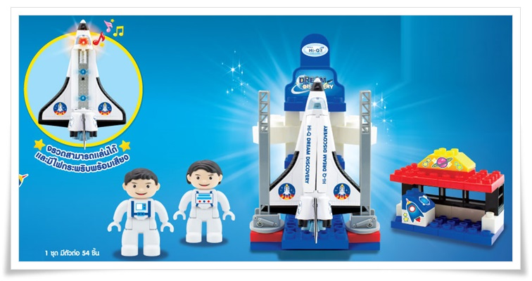 Space Shuttle Set (ไฮคิวชุดตัวต่อจรวด ท่องอวกาศ) ** ค่าจัดส่งฟรี ปณ.พัสดุธรรมดา