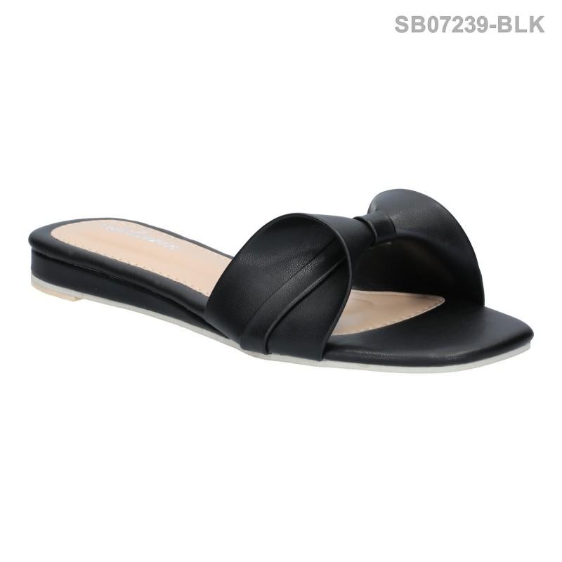 ลดล้างสต๊อก รองเท้าส้นแบน SB07239-BLK [สีดำ]