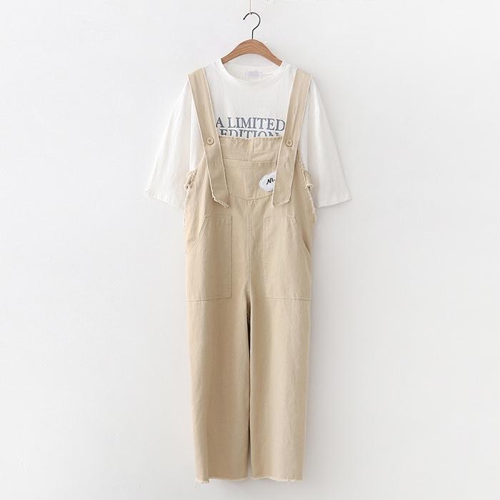 เอี๊ยมกางเกงยีนส์ขายาว (มีให้เลือก 2 สี) *ไม่รวมเสื้อยืด