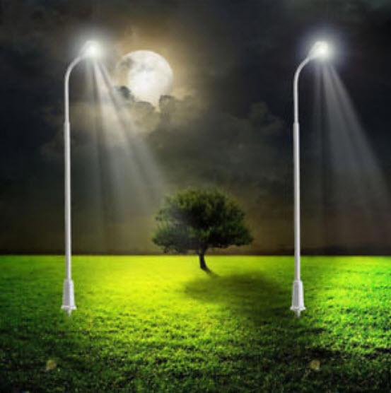 เสาไฟโลหะ LED 3 โวลต์ สูง 10 ซ.ม. / ชุด 5 ต้น (พร้อมรีซิสเตอร์)