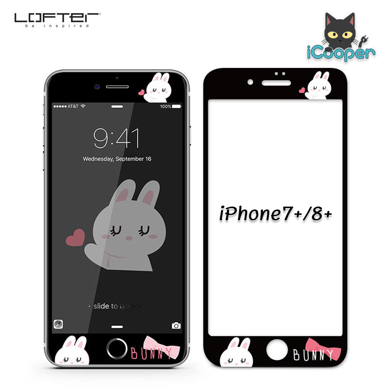 LOFTER Bunny Full Cover - Black (iPhone8+/7+)