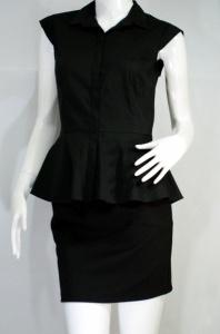 JASPAL เสื้อเชิ๊ตสีดำแขนกุด
