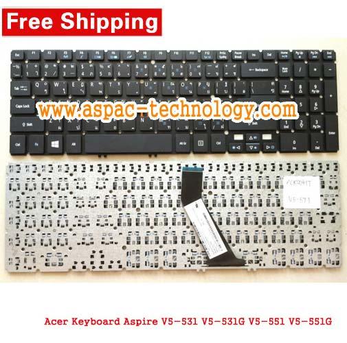 Keyboard ACER Aspire V5-531 V5-531G V5-551 V5-551G / V5-571 V5-571G / M3-581 M5-581 ภาษาไทย/อังกฤษ
