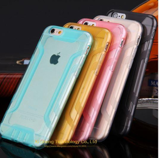 เคสไอโฟน 6plus วัสดุ TPU ใส มีให้เลือกหลายสี