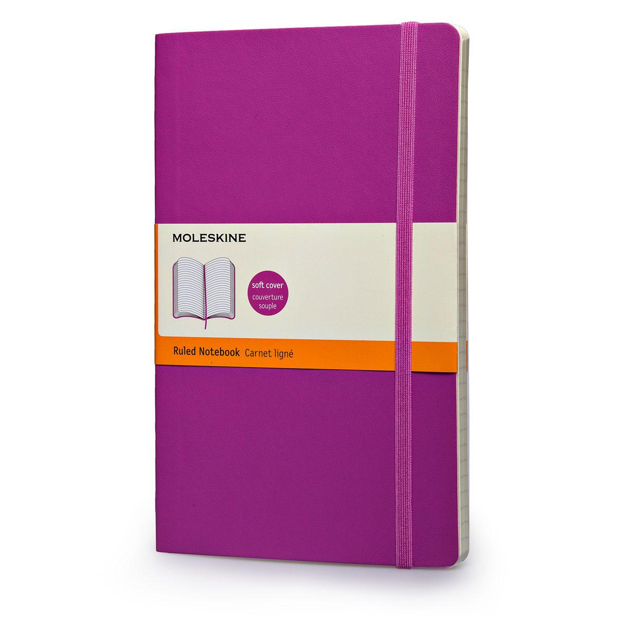 สมุด Moleskine Soft Cover มีเส้นบรรทัด ปกอ่อน สีชมพู - ขนาด Pocket