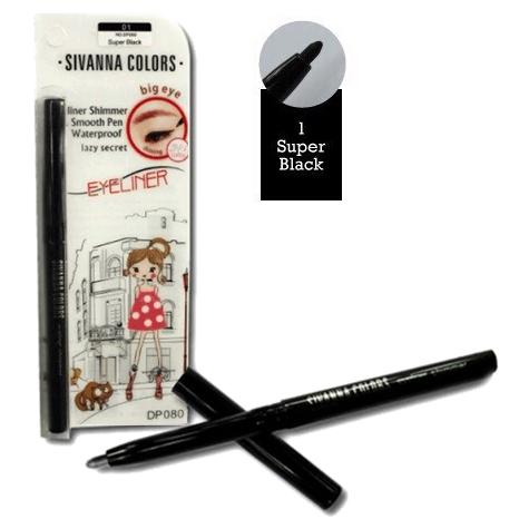Sivanna Eyeliner Shimmer Waterproof อายไลเนอร์ชิมเมอร์ No.01 Super Black