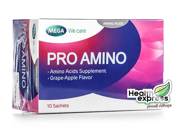 Mega We Care Pro Amino เมก้า วีแคร์ โปร อะมิโน บรรจุ 10 ซอง