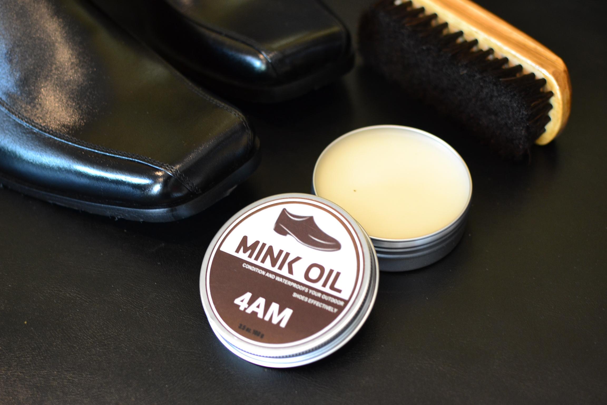 ครีม Mink Oil + แปรงขนม้าแท้