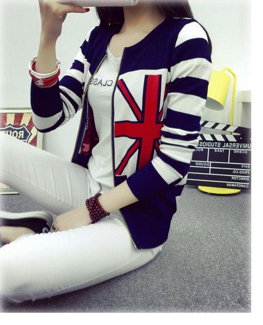 เสื้อกันหนาวแฟชั่นเกาหลีราคาถูกสีแดงลายสก็อตฮ็อตสุดๆราคาถูก