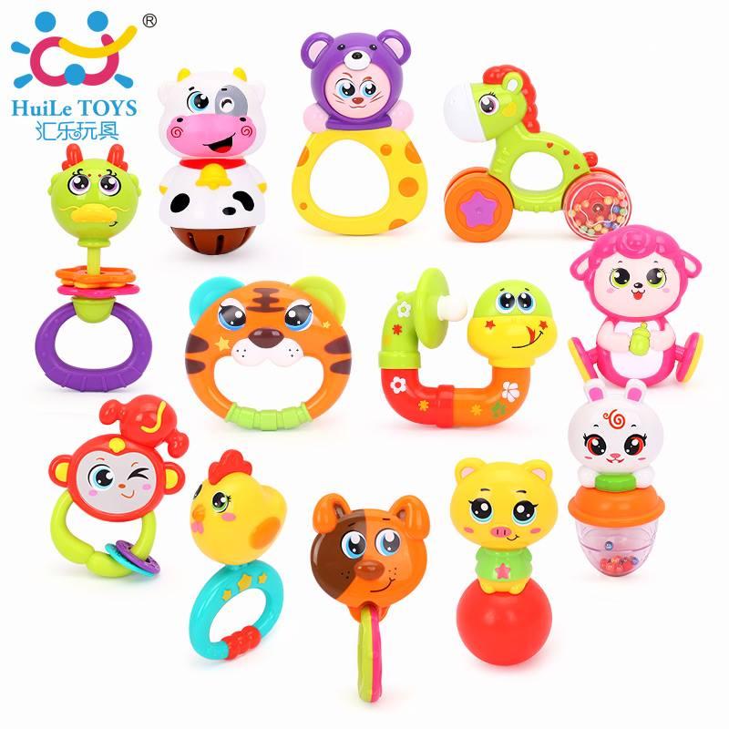 ของเล่นเสริมพัฒนาการ เขย่ามือ มีเสียง สีสดใส ของเเท้ HuiLe Toys