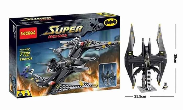 เลโก้จีน Decool 7112 Batwing มินิฟิกเกอร์ ขนาด