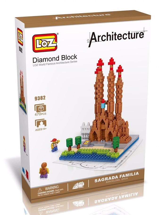 มินิบล็อก LOZ เลโก้จีน 9382 ราคาถูก Sagrada Familia