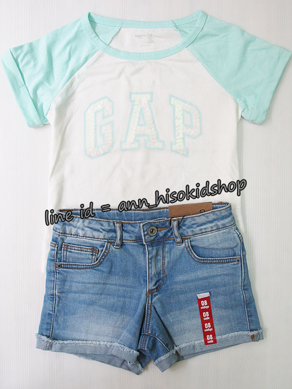 SP025 Gap Kids T-Shirt + Zara short jeans