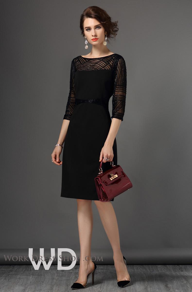 Preorder ชุดทำงาน สีดำ แต่งลูกปัดในเนื้อผ้าสวยหรู