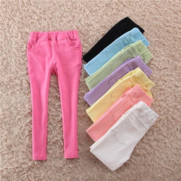 กางเกงเด็กผู้หญิงสีชมพู ขายาวเอวยางยืด ผ้านิ่มสวมใส่ง่าย ใส่กับเสื้อแบบไหนก็น่ารักค่ะ