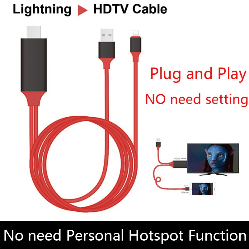 Lightning HDMI Cable สาย iPhone To TV เชื่อมต่อ iPhone/iPad เข้ากับทีวี
