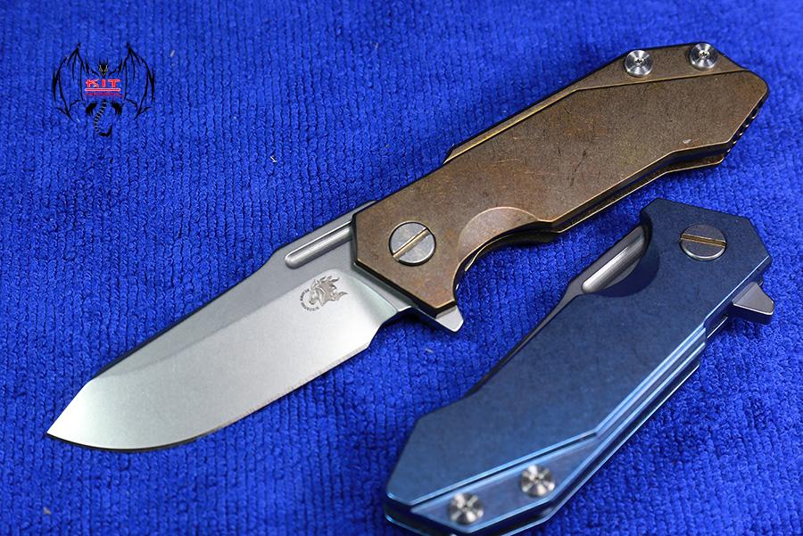 RHK Half-Track Frame Lock Knife Bronze Titanium