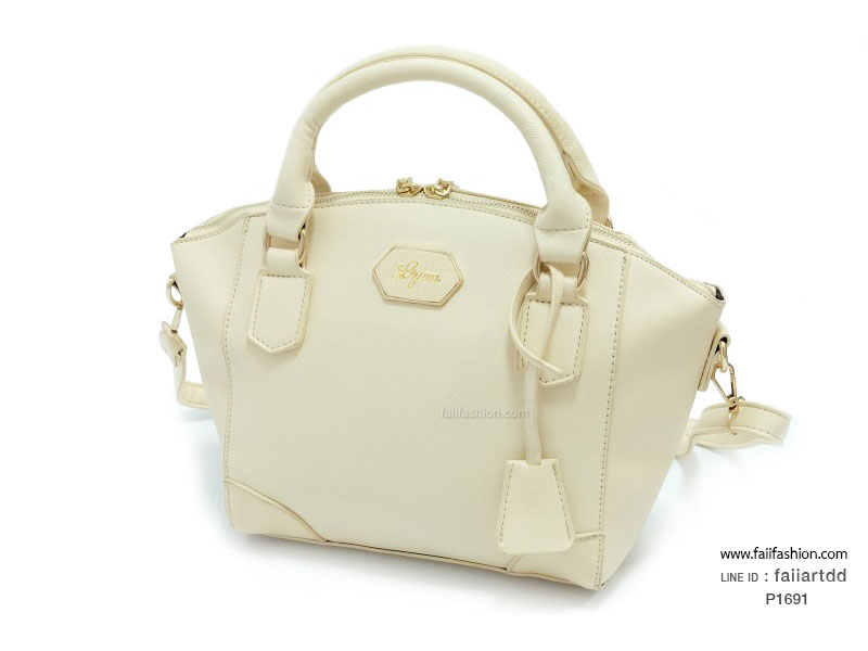 กระเป๋าแฟชั่น หนังsaffieno สไตล์ Lyn alicia แต่งซิปเหล็กกระเป๋าอยู่ทรงสวย (แถมโลโก้)