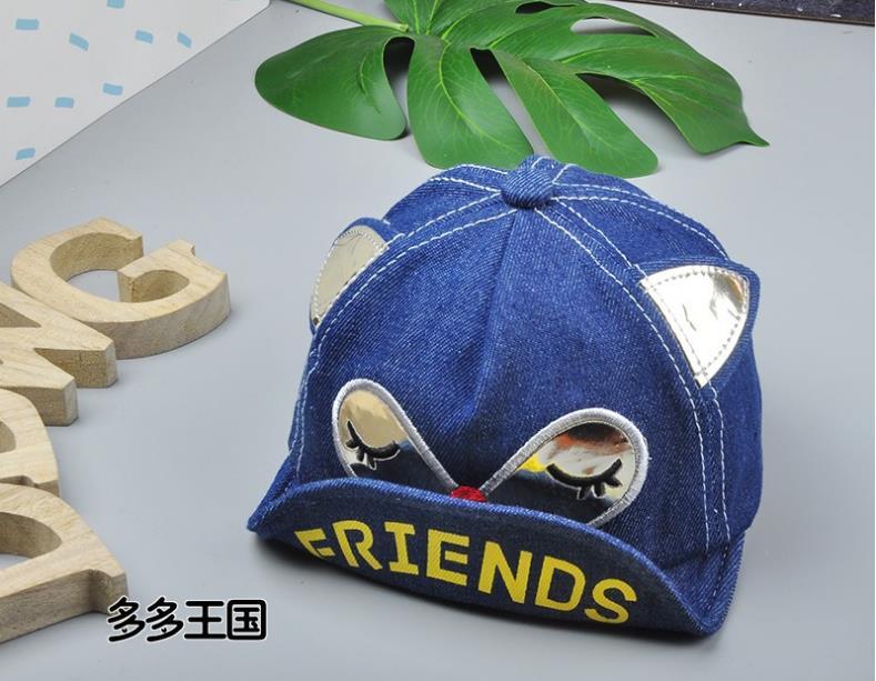 หมวก สีน้ำเงิน แพ็ค 5ใบ ไซส์รอบศรีษะ 48cm