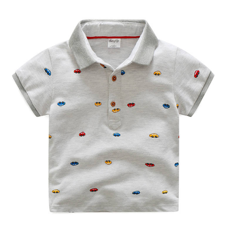 เสื้อ สีเทา แพ็ค 5 ชุด ไซส์ 100-110-120-130-140
