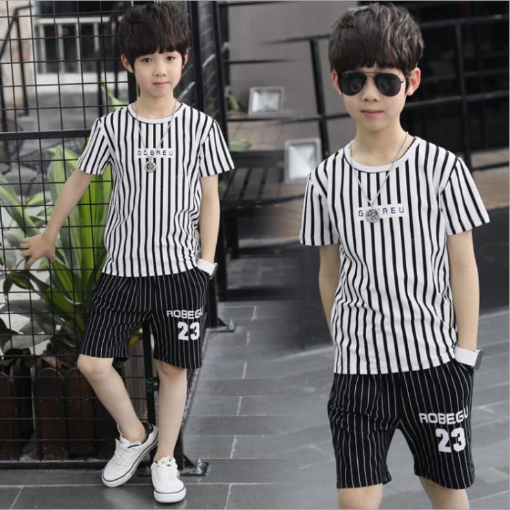 เสื้อ+กางเกง สีขาว แพ็ค 5 ชุด ไซส์ 130-140-150-160-170 (เลือกไซส์ได้)