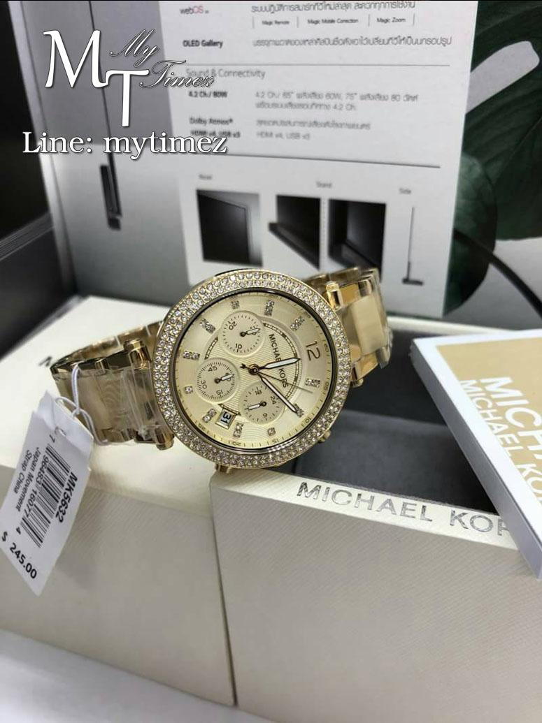 นาฬิกาข้อมือ MICHAEL KORS รุ่น Parker Chronograph Champagne Dial Ladies Watch MK5632