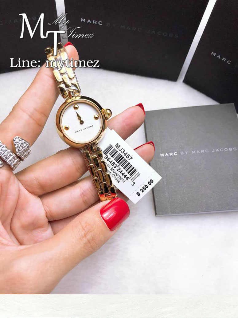 MARC BY MARC JACOBS Courtney Silver Dial Ladies Gold Tone Watch MJ3457