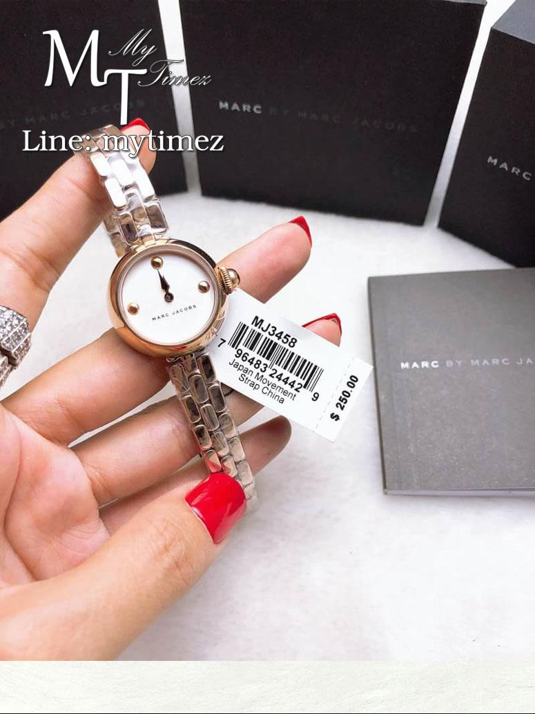 นาฬิกาข้อมือ MARC BY MARC JACOBS Courtney Silver Dial Ladies Rose Gold Watch MJ3458