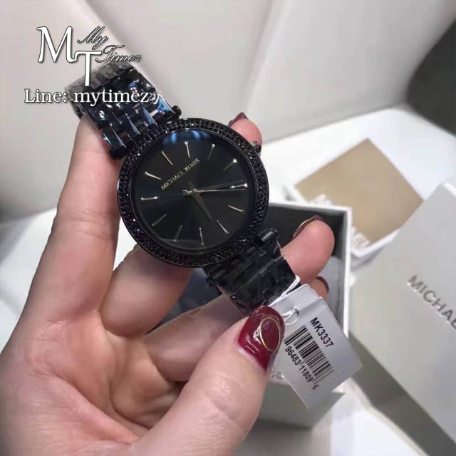 นาฬิกาข้อมือ MICHAEL KORS รุ่น Darci MK3337 Black Stainless-Steel MK3337