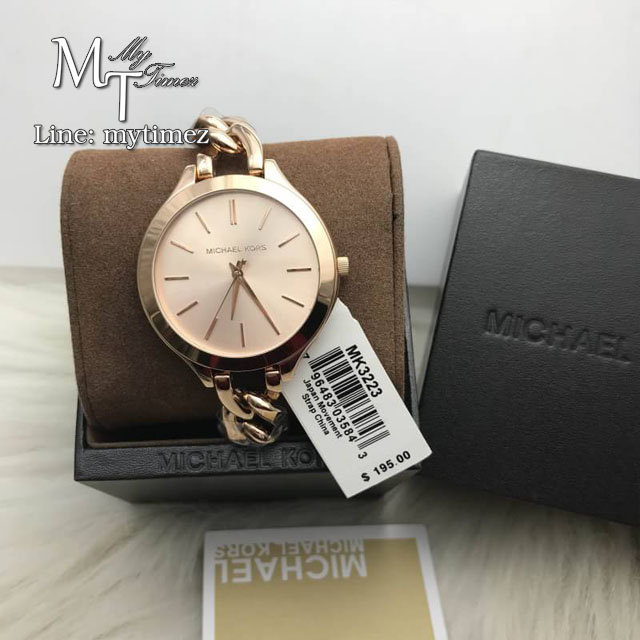 MICHAEL KORS Slim Runway Twist Rose Dial Ladies Watch MK3223