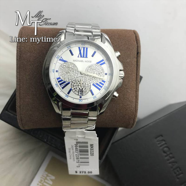 MICHEAL KORS Bradshaw Silver Crystal Pave Dial Unisex Watch MK6320