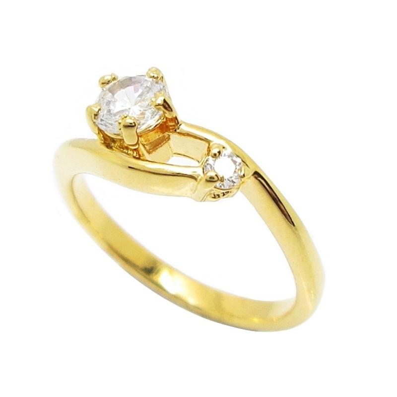 แหวนประดับเพชรชุบทอง