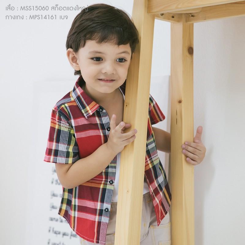เสื้อลายสก็อตแดงใหญ่ เด็ก 1 ถึง 4 ขวบ