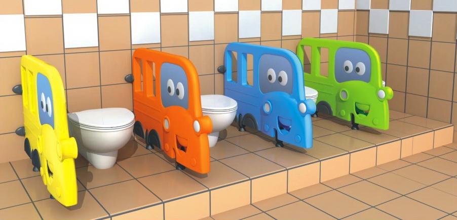 แผ่นกั้นห้องน้ำรถโรงเรียน