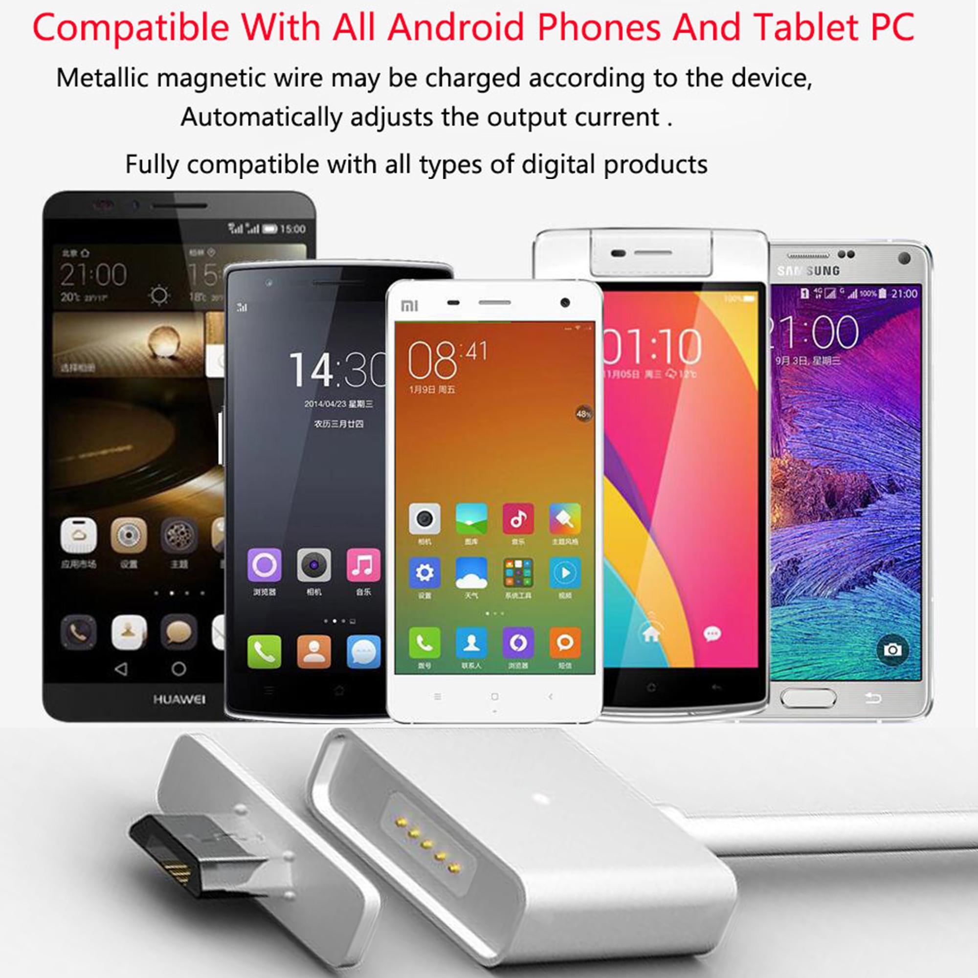 ที่ชาร์จมือถือแท็บเล็ตแถบแม่เหล็กถนอมช่องเสียบ Micro USB Charger Magnetic cable For Universal Android