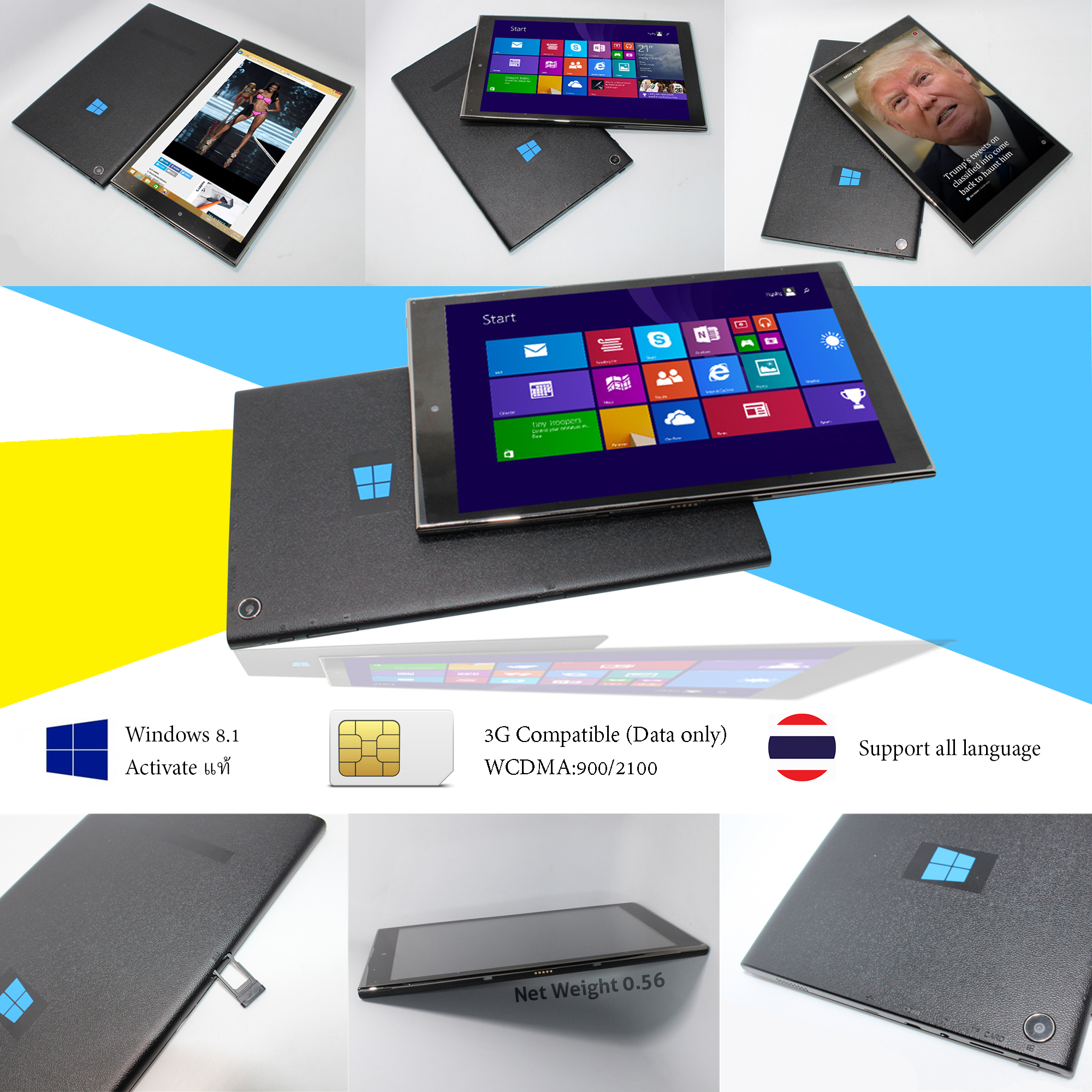 Computer Tablet 3G Sim Card Windows 8.1 Intel3735 IPS 8.95inch