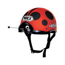 หมวกกันน็อคเด็ก INDEX รุ่น Lady Bug Red