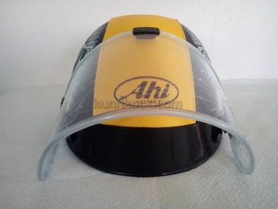 หมวกกันน็อค แบบครึ่งใบ เด็กโต-ผู้ใหญ่-เอเฮชไอเหลืองผสม : Ahi Yellow Dark Navy