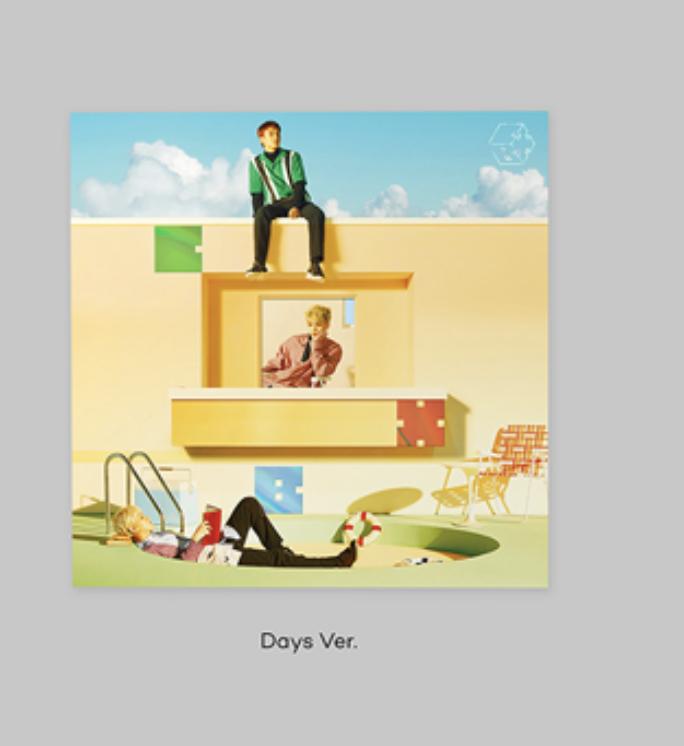 EXO-CBX - Mini Album Vol.2 หน้าปก Days Ver +โปสเตอร์พร้อมกระบอกโปสเตอร์